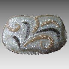 La Regale Beaded, Sequined, Faux Pearl, Clutch, Original Box