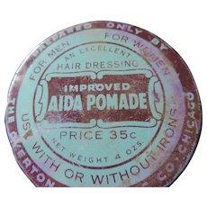 Vintage Aida Pomade Hair Dressing Tin