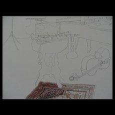 "Millicent Tompkins Cello Print, 12"" X 15 1/2"", Metal Frame, 16"" X 20"""