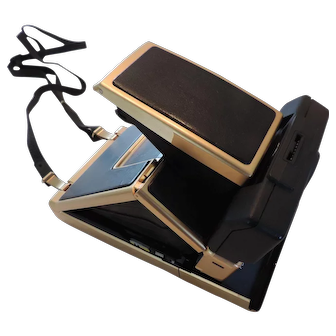 Very Rare 24K Gold Plated Polaroid SX-70 Sonar One Step Camera