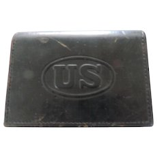 US Military Black Leather Belt Box, JQMD, 1938