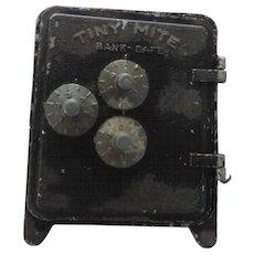 Tiny Mite Bank Safe, Bullseye by Arrow, Black Crackle Finish