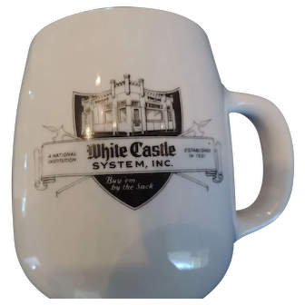 White Castle Restaurant Coffee Mug/Ashtray
