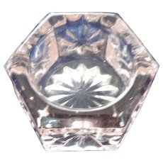 Pink Glass Hexagonal Open Salt
