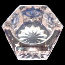 Pink Glass Hexagonal Open Salt