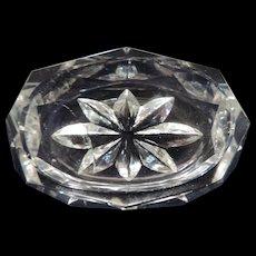 "Oval Crystal Salt Cellar, 1 3/8"" X 2 1/8"""