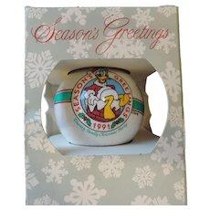 1991 Disney Cast Part Donald Duck Christmas Ornament
