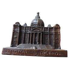 Souvenir Architectural Model, St. Peters Basilica, Rome