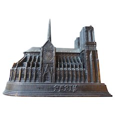 Souvenir Architectural Model, Notre Dame Cathedral, Paris, France