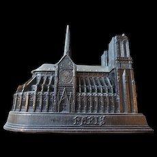 Souvenir Architectural Model, Notre Dame Cathedral, Paris, France