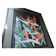 "Deborah Howard Lithograph, Birds Of Paradise, Artists Proof, 27"" X 31"", Professionally Framed"