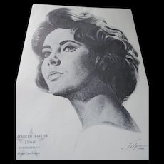 Nicholus Volpe Oscar Winners Charcoal Portraits, 1962, 50 Pieces
