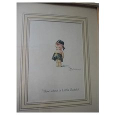 """How About A Little Scotch, Charles Twelvetrees Lithograph, Framed, 9"""" X 11"""""""