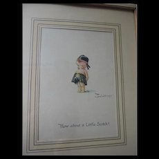 "How About A Little Scotch, Charles Twelvetrees Lithograph, Framed, 9"" X 11"""