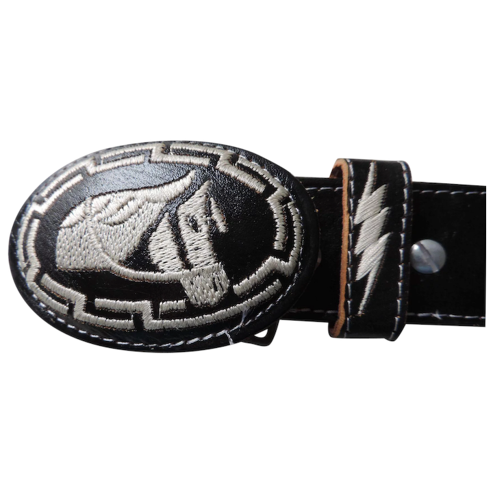 Black And White Western Themed Mexican Concho Style Belt Buckle 1 5 8 X 38