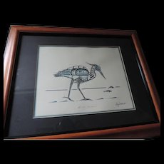 Blue Heron, Jim Gilbert, NW Coast Totemic Art