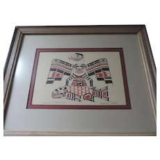 Eagle and Salmon, Print, Henry Hunt, Kwakiutl Artist