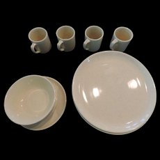 Bauer Al Fresco Yellow Dinnerware, 8 Dinner Plates, 3 Bowls, 3 Mugs