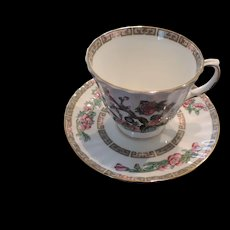 Duchess Bone China Cup and Saucer, Indian Tree Pattern