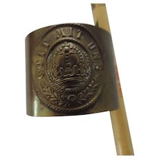 German WWI Gott Mit Uns Brass Napkin Ring
