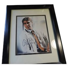 "George Clooney, ER, Autographed Color Photo, 8"" X 10"", COA"