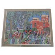 Raoul Dufy Prints, Set of 4, The Paddock, Orchestra, Umbrellas, Regatta at Cow-On-Thames