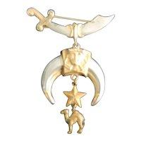 """Masonic Shriner Claw Pin, 4"""" Long"""