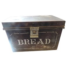 1920's Black and White Tin Ventilated Bread Box