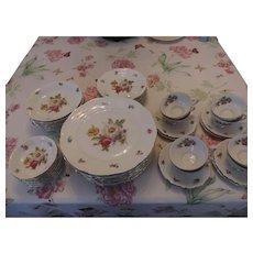 Mitterteich Meissen Floral Dinner Service, 45 Pieces
