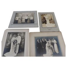 Group of 4 Vintage Wedding Photographs, 1920's-1940's