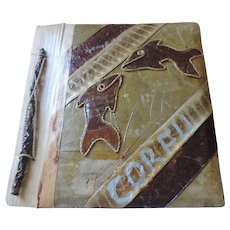 Leather Patchwork Souvenir Photo Album, Corfu