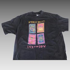 Bonnie Raitt, Luck Of The Draw, World Tour 1991, T Shirt, Black, XL