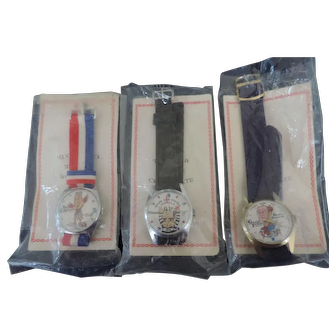 Trio Of Wrist Watches For Nixon Impeachment From The 1970's