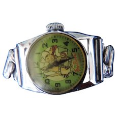 Roy Roger's and Trigger Wrist Watch, Metal Stretch Band