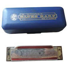 Hohner Blues Harp Harmonica, G, Blue Case