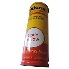 Wilson Championship Optic Yellow Tennis Ball Tin