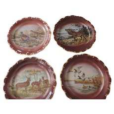"Bayreuth Bavaria Game Plates, 12"", Set of 4"