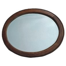 "Victorian Oak Framed Beveled Mirror, 19 1/4"" X 23 1/4"""