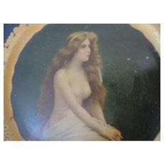 "Coca Cola Vienna Art Plate, 1905, ""The Nude"""