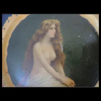 "Coca Cola Vienna Art Plate, 1905, ""The Nude"""