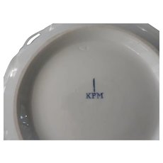 KPM Porcelain Bowl with Pierced Flower Handles, 10 1/2""