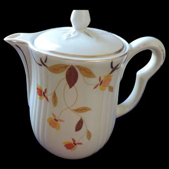 Hall China Autumn Leaf Coffee Pot, Jewel Tea, 8 Cup