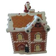 Waterford Holiday Heirloom Ceramic Christmas Cookie Jar, Gingerbread House