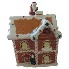 Waterford Holiday Heirloom Ceramic Christmas Cookie Jar, Gingerbread House