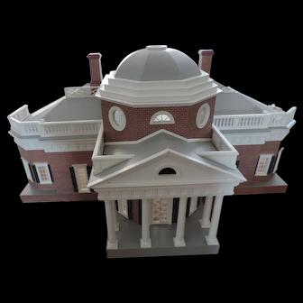 "Jefferson's Monticello Dollhouse, Furnished, 35"" X 18"" X 20"""