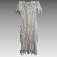 Lillie Rubin Ecru Lace Flapper Dress, Size 6