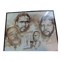 """Civil Rights Leaders Poster, M. Prior, 16"""" X 20"""""""