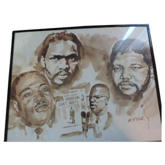 "Civil Rights Leaders Poster, M. Prior, 16"" X 20"""