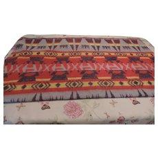 "1920's-30's Beacon Indian Camp Blanket, 62"" X 72"""