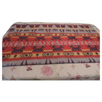 "1920's-30's Beacon Indian Camp Blanket, 62"" X 72"""